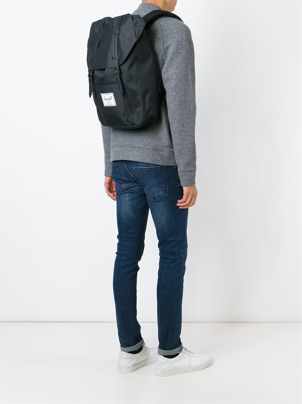 Lyst - Herschel Supply Co. Retreat Backpack in Black for Men bd521e7b6c
