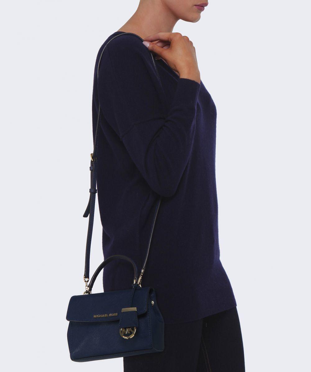 a3d1b739b84a MICHAEL Michael Kors Ava Small Crossbody Bag in Blue - Lyst