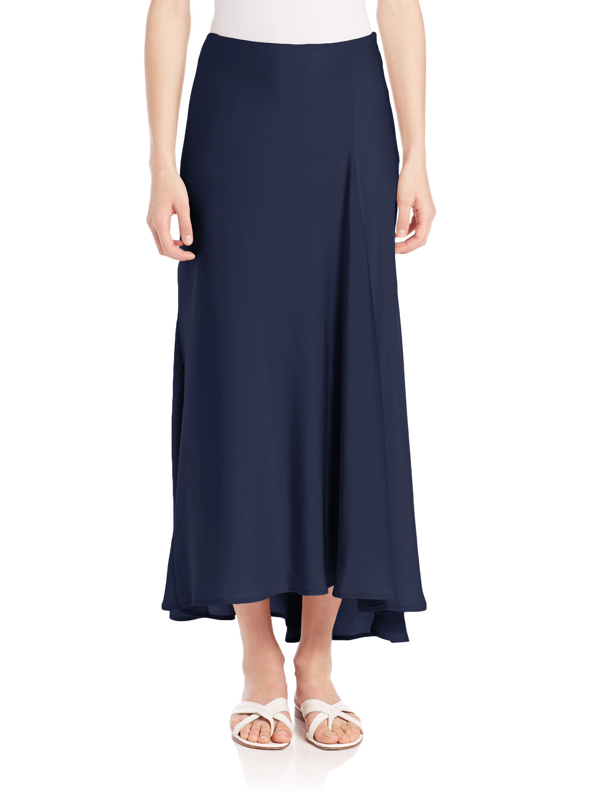 Theory Maity Silk Maxi Skirt in Blue | Lyst