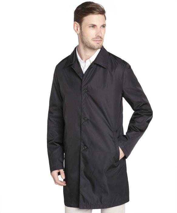 Prada Black Nylon Water-resistant Raincoat in Black for Men | Lyst