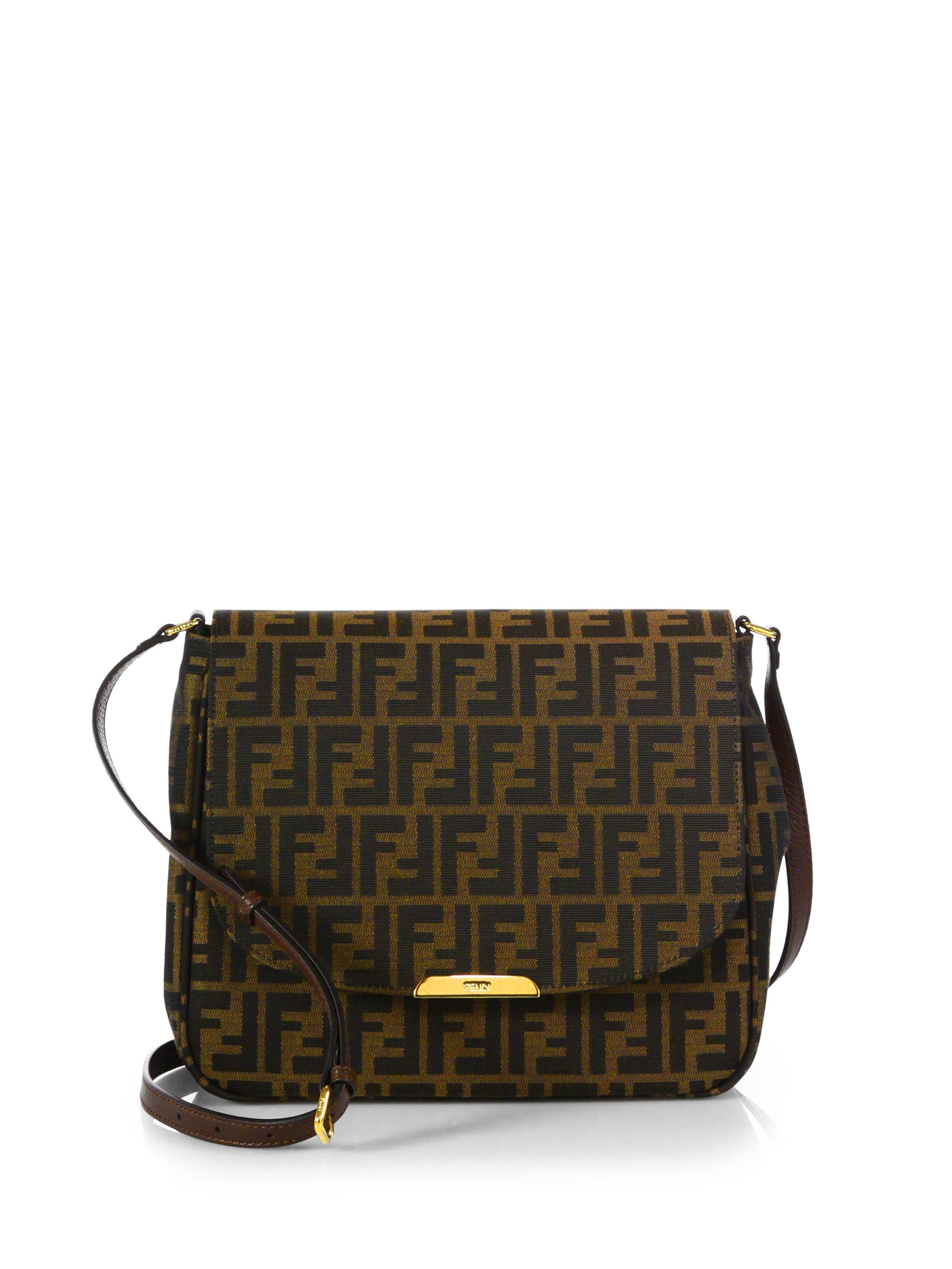 47e6b2a1fdd7 ... authentic authentic fendi zucca bag lyst fendi zucca canvas shoulder bag  in brown 6b7df 7b56b ...