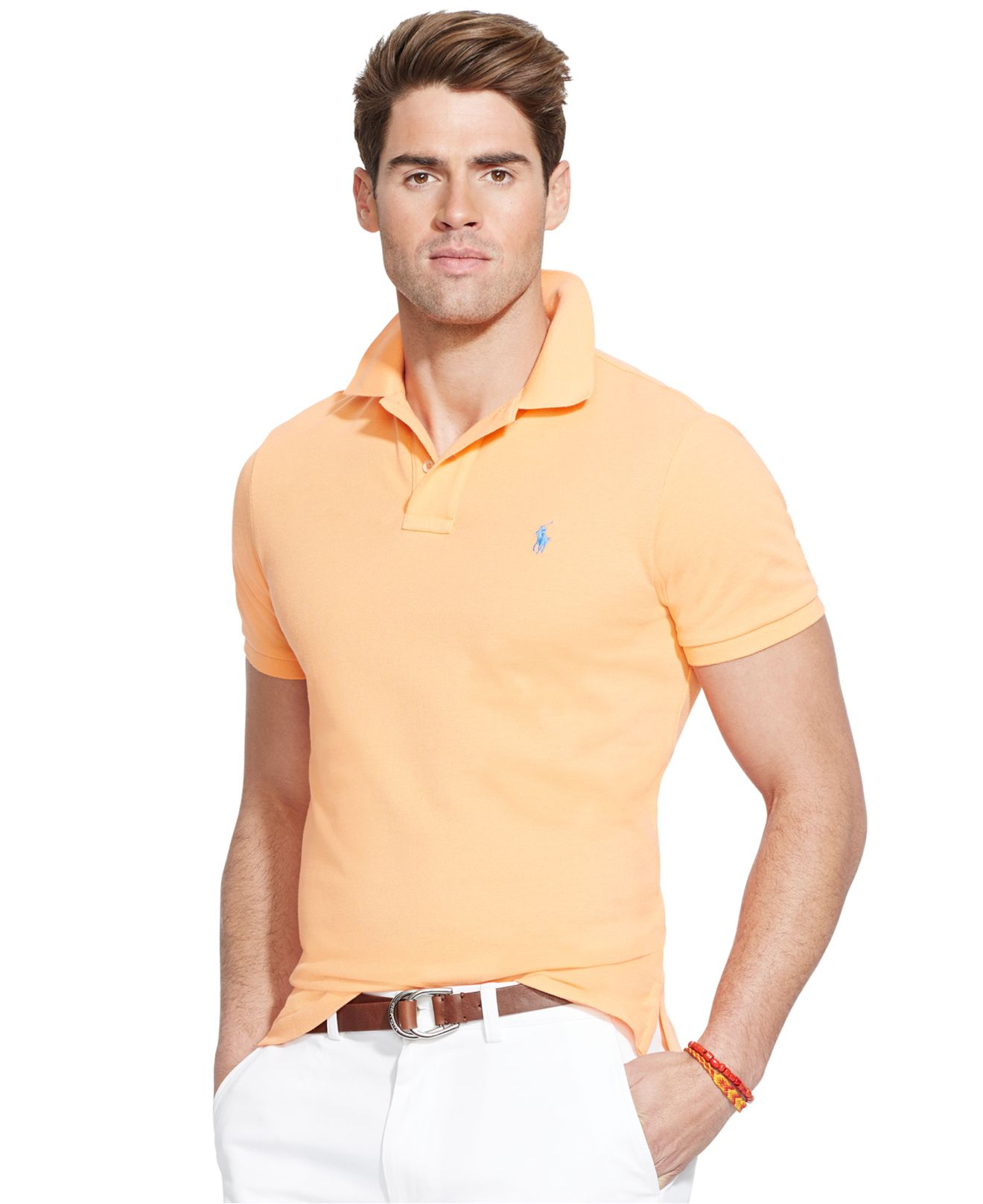 Polo Ralph Lauren Men Custom-Fit Mesh Red .
