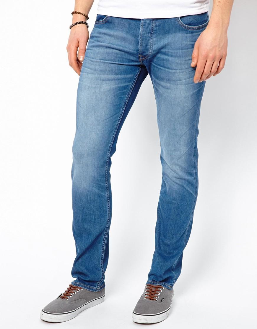 b155351c Lee Jeans Jeans Luke Skinny Blue Stream in Blue for Men - Lyst