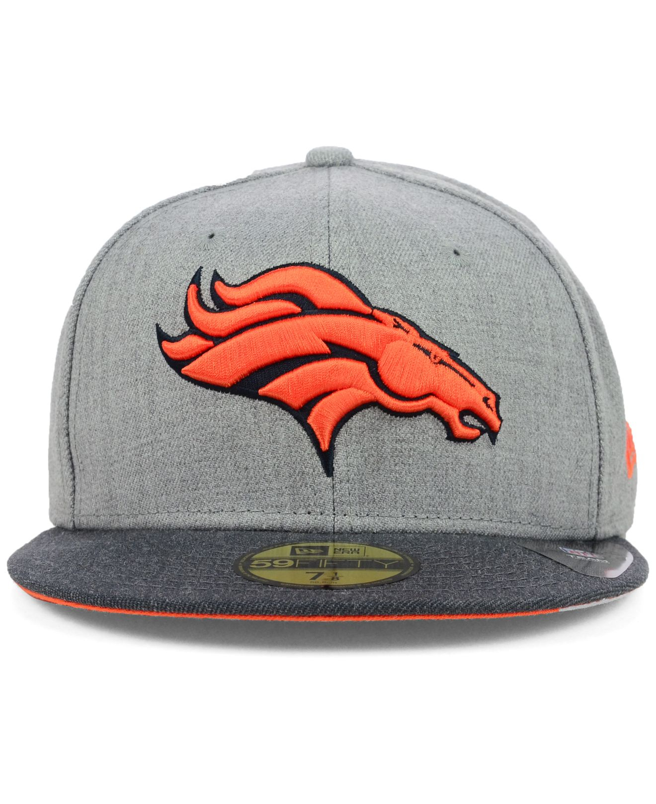 1b42ceb5b Lyst - KTZ Denver Broncos Heather 2-Tone 59Fifty Cap in Orange for Men