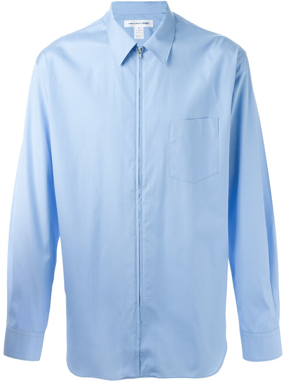 comme des gar ons zip shirt in blue for men lyst. Black Bedroom Furniture Sets. Home Design Ideas