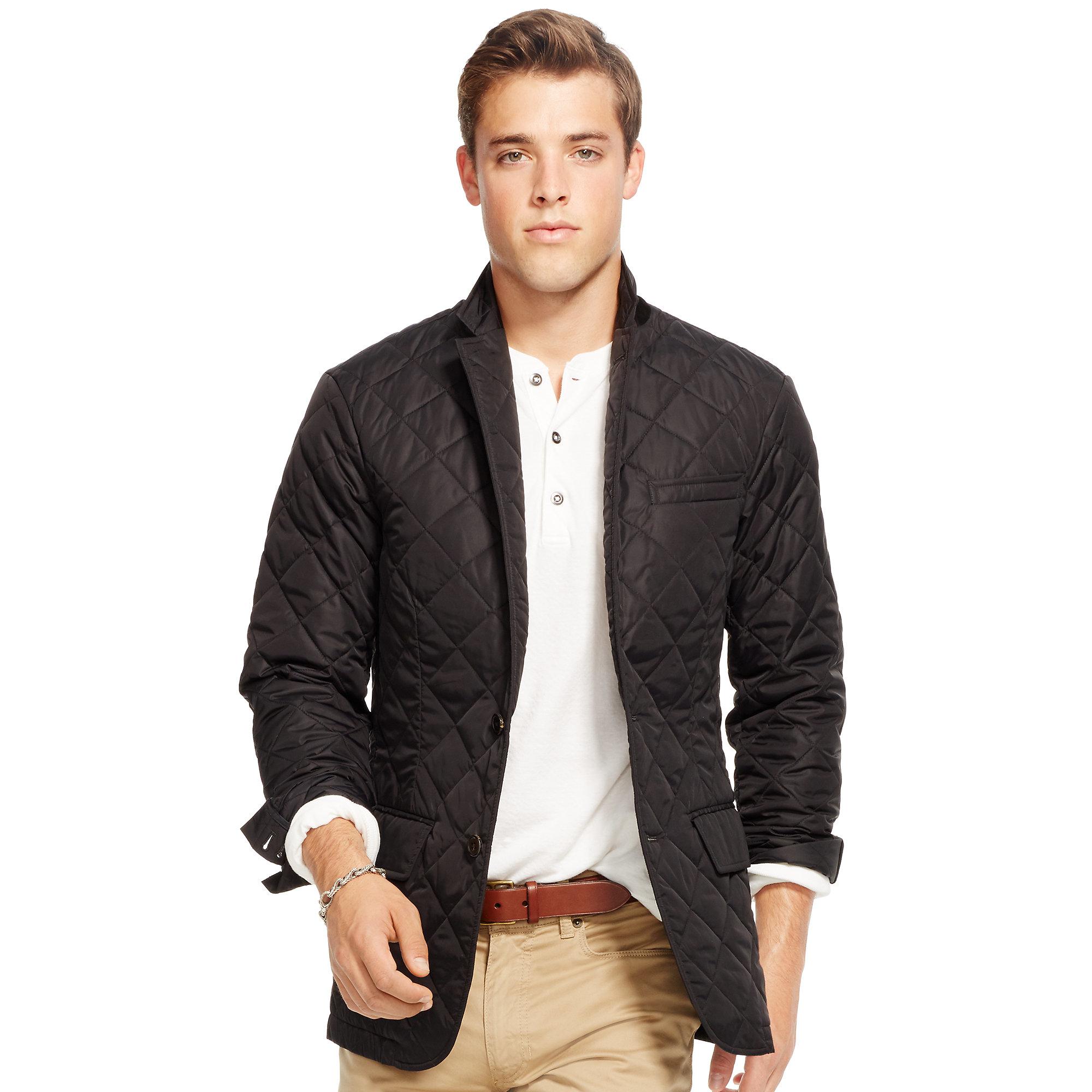 Polo ralph lauren Quilted Sport Coat in Black for Men | Lyst : mens quilted sport coat - Adamdwight.com