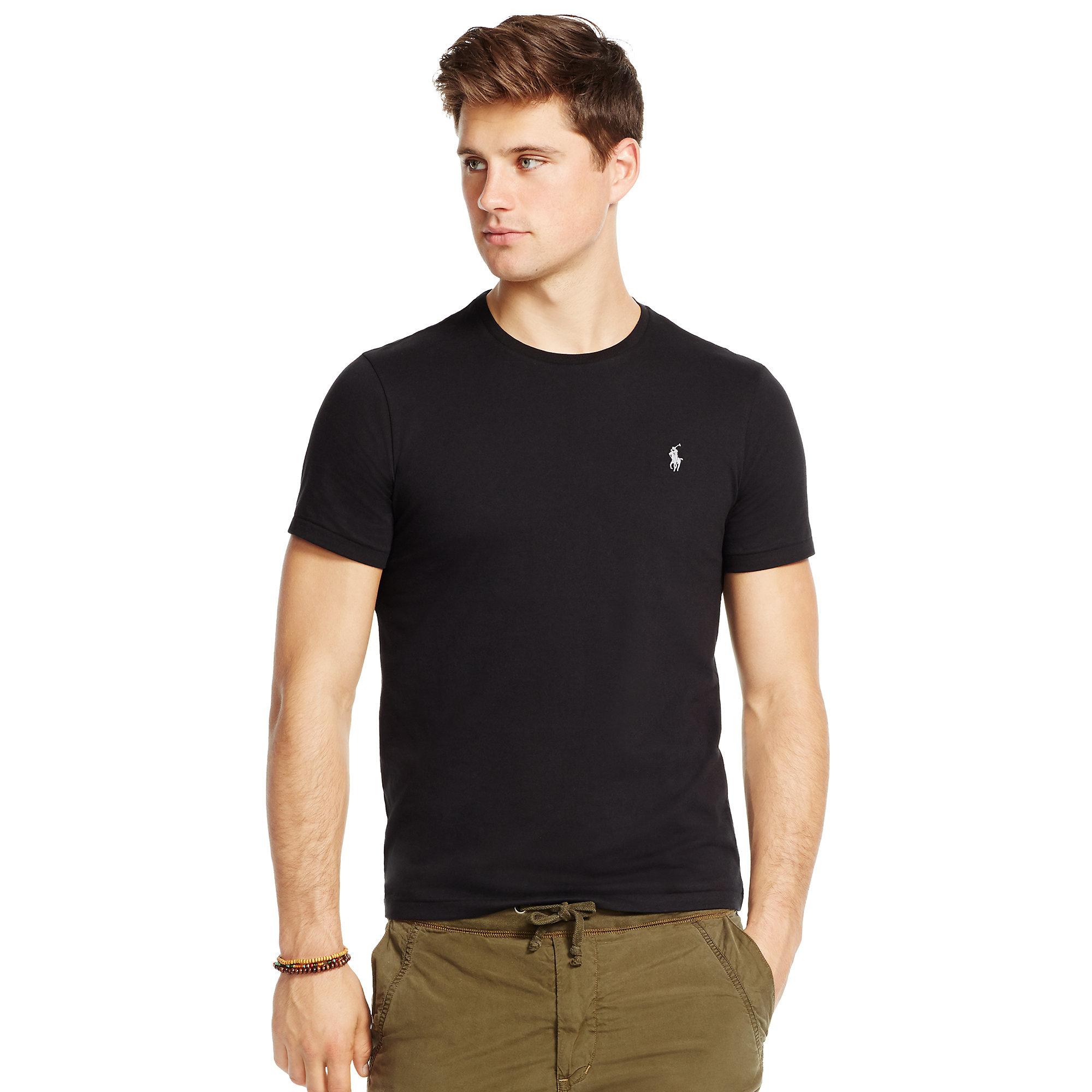 Lyst Polo Ralph Lauren Custom Fit Cotton T Shirt In Black For Men