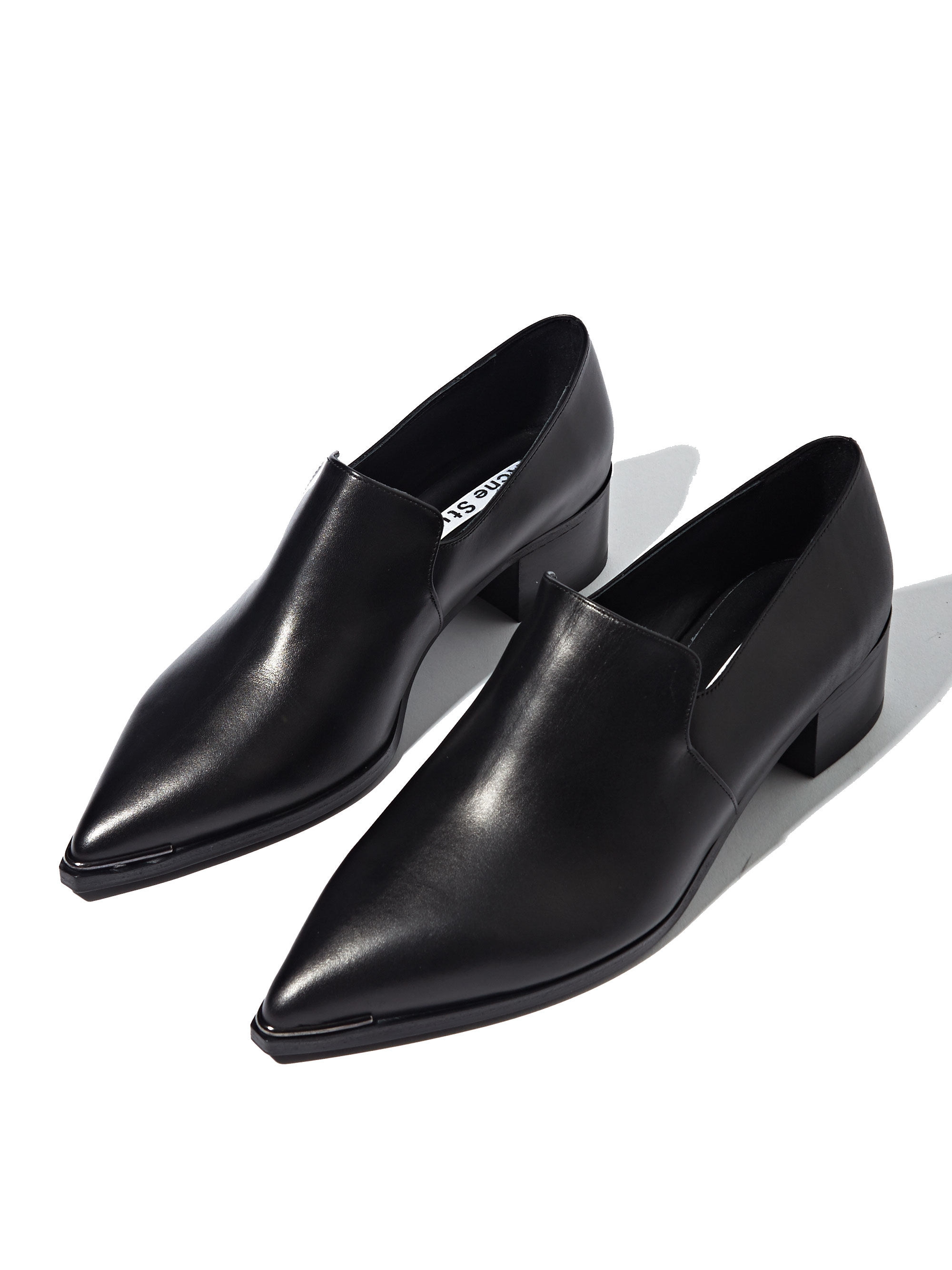 Lyst - Acne Studios Womens Jaycee Lamb Leather Loafer Shoes in Black