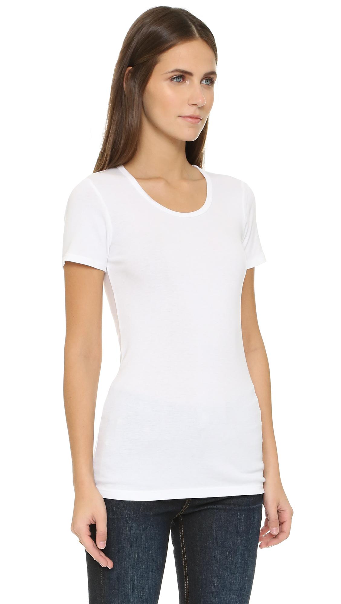 Lyst splendid infant 39 s solid short sleeve tee in white for Splendid infant