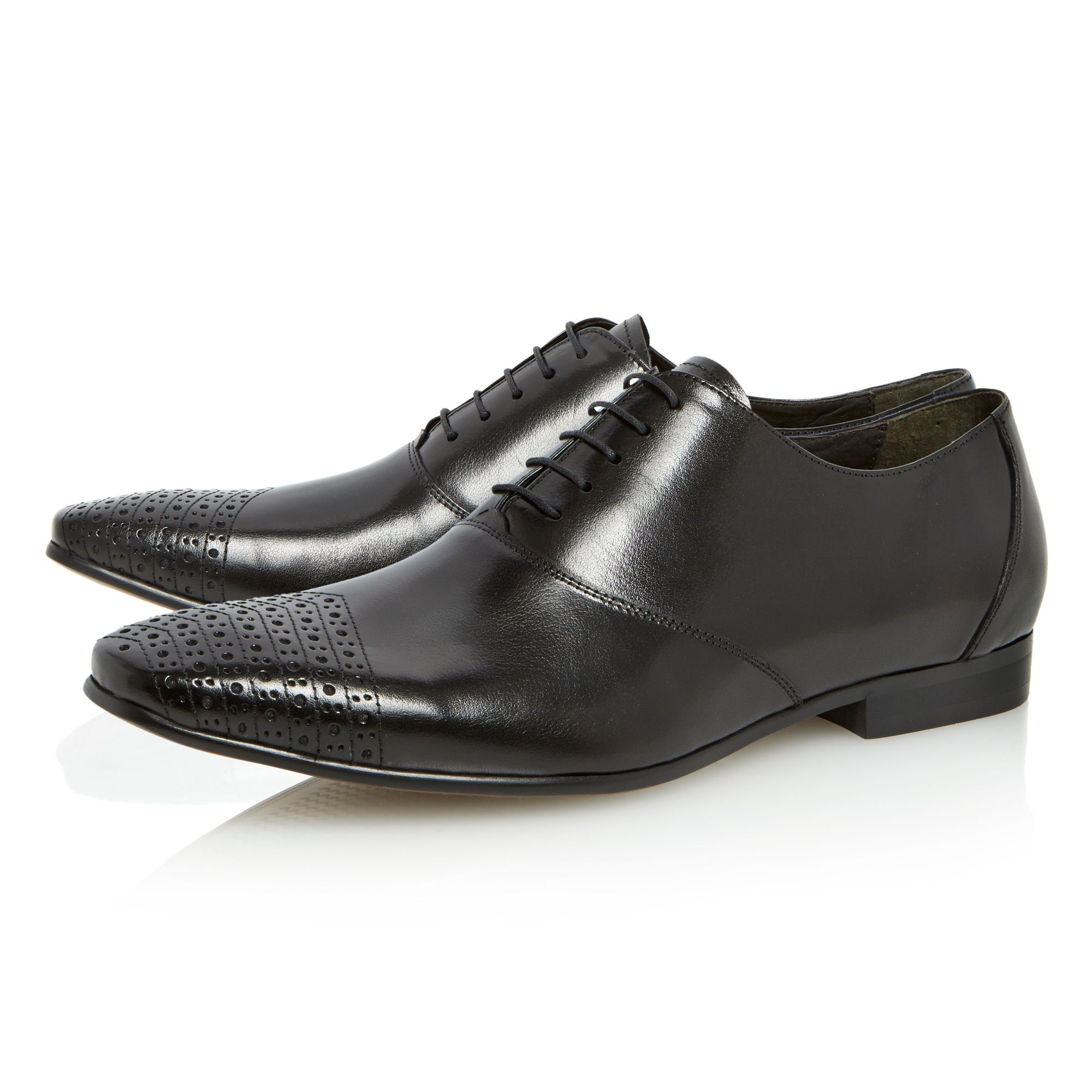 dune accountant lace up formal shoes in black for lyst
