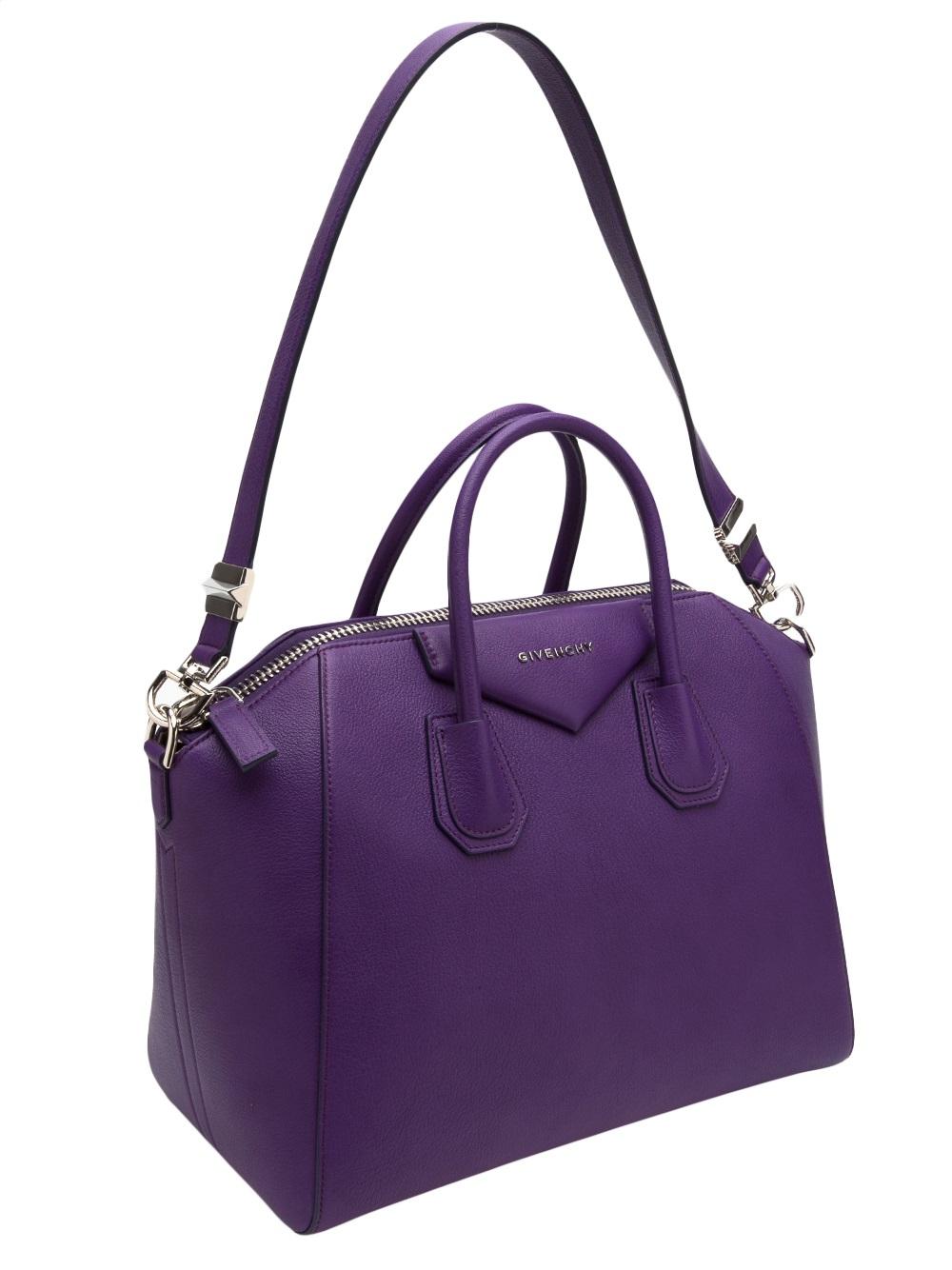 Lyst - Givenchy Antigona Medium Bag in Purple 825274dc08a40