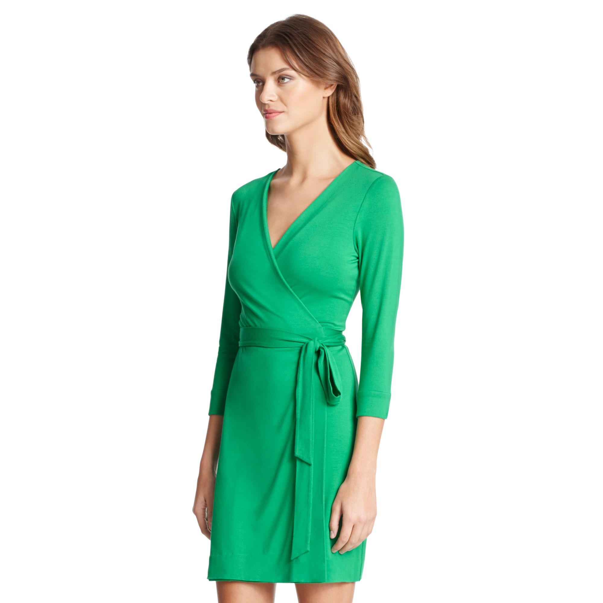 Diane von furstenberg New Julian Two Mini Jersey Wrap Dress in ...