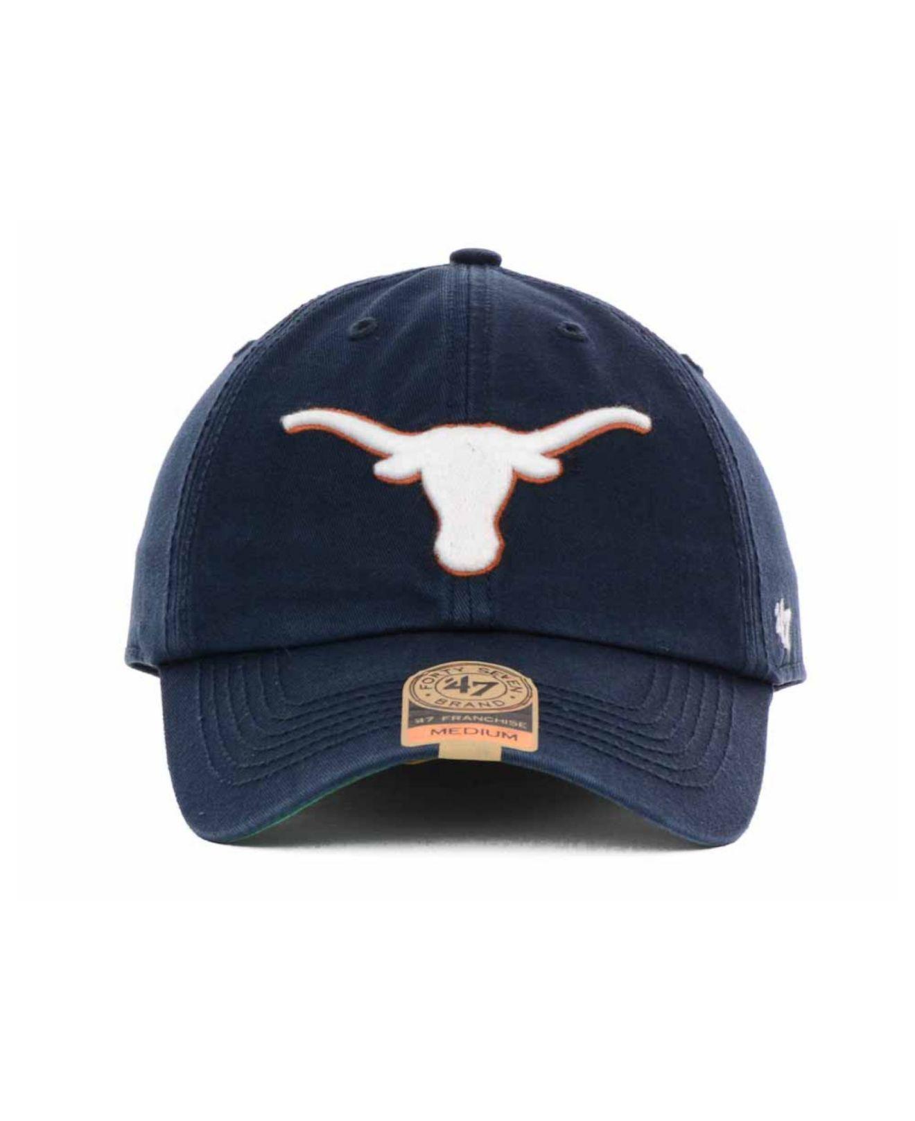 0e3bda59fd3e2 ... italy lyst 47 brand texas longhorns navy franchise cap in blue for men  18b54 e33f0