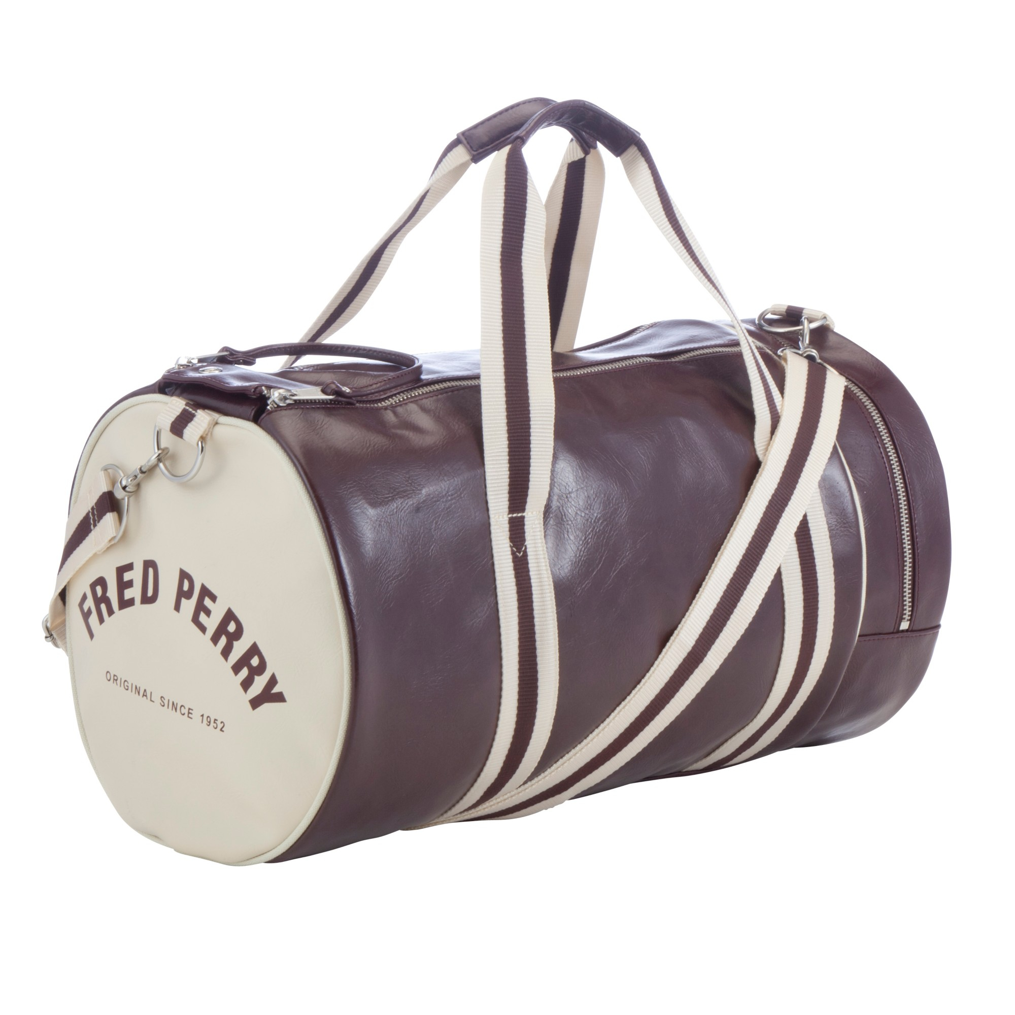 Fred Perry Classic Barrel Bag In Brown For Men Lyst