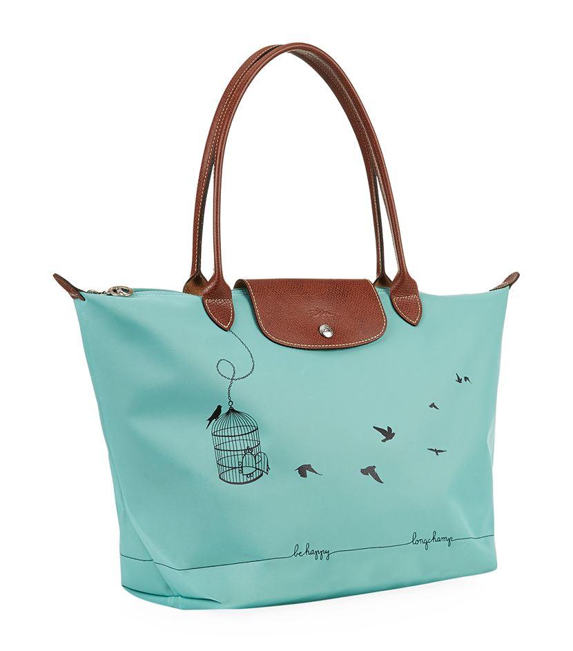 ec5c88fd17 Longchamp Le Pliage Bird Cage Shoulder Bag in Blue - Lyst