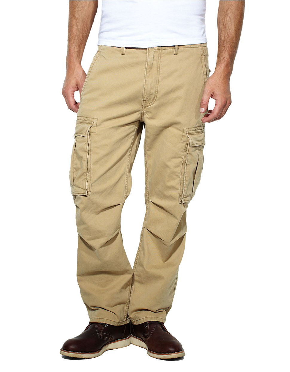 gold cargo pants - Pi Pants