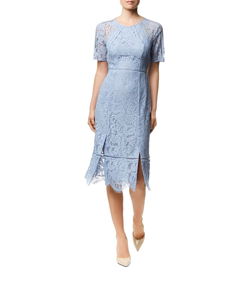 868a5447341b11 Whistles Lilly Lace Dress in Blue - Lyst