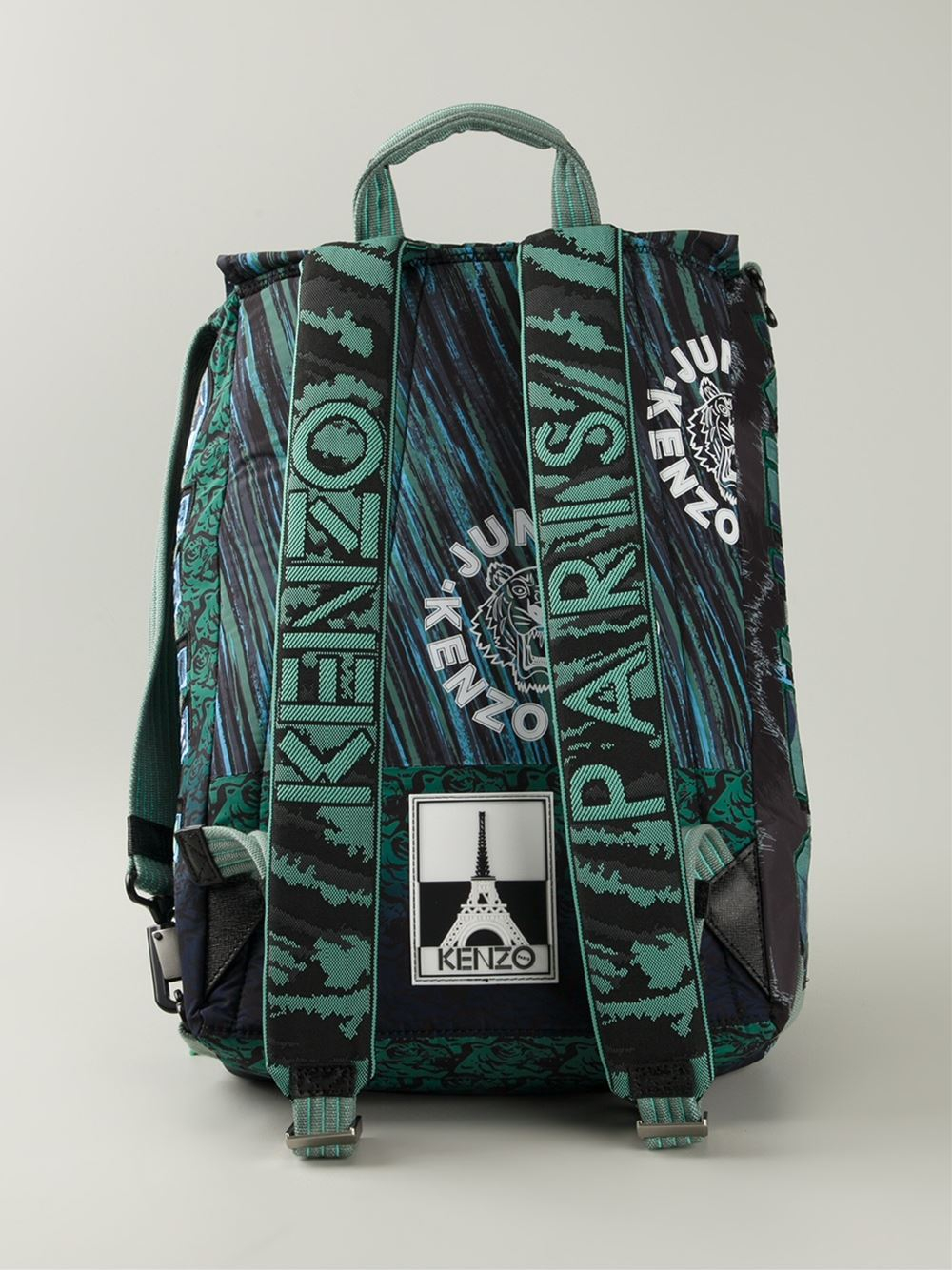 Lyst Kenzo Multi Logo Backpack In Green For Men