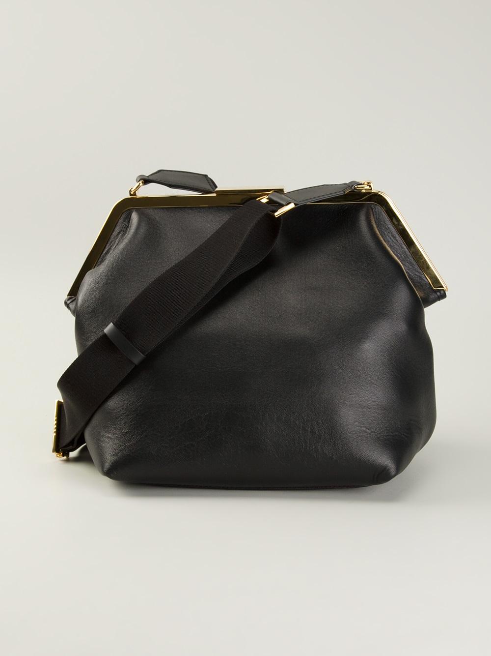 Lyst Marni Frame Handbag In Black