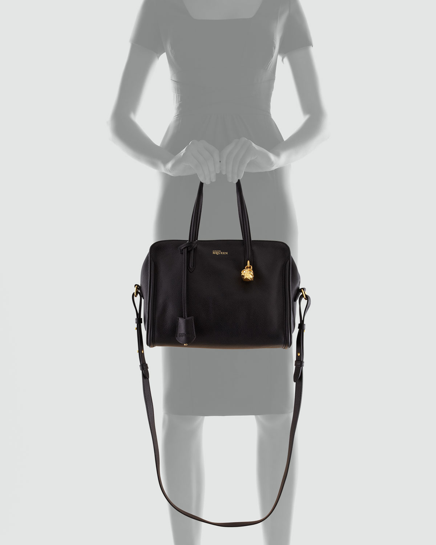 1fb766228f23 Lyst - Alexander McQueen Padlock Zip-around Tote Bag in Black