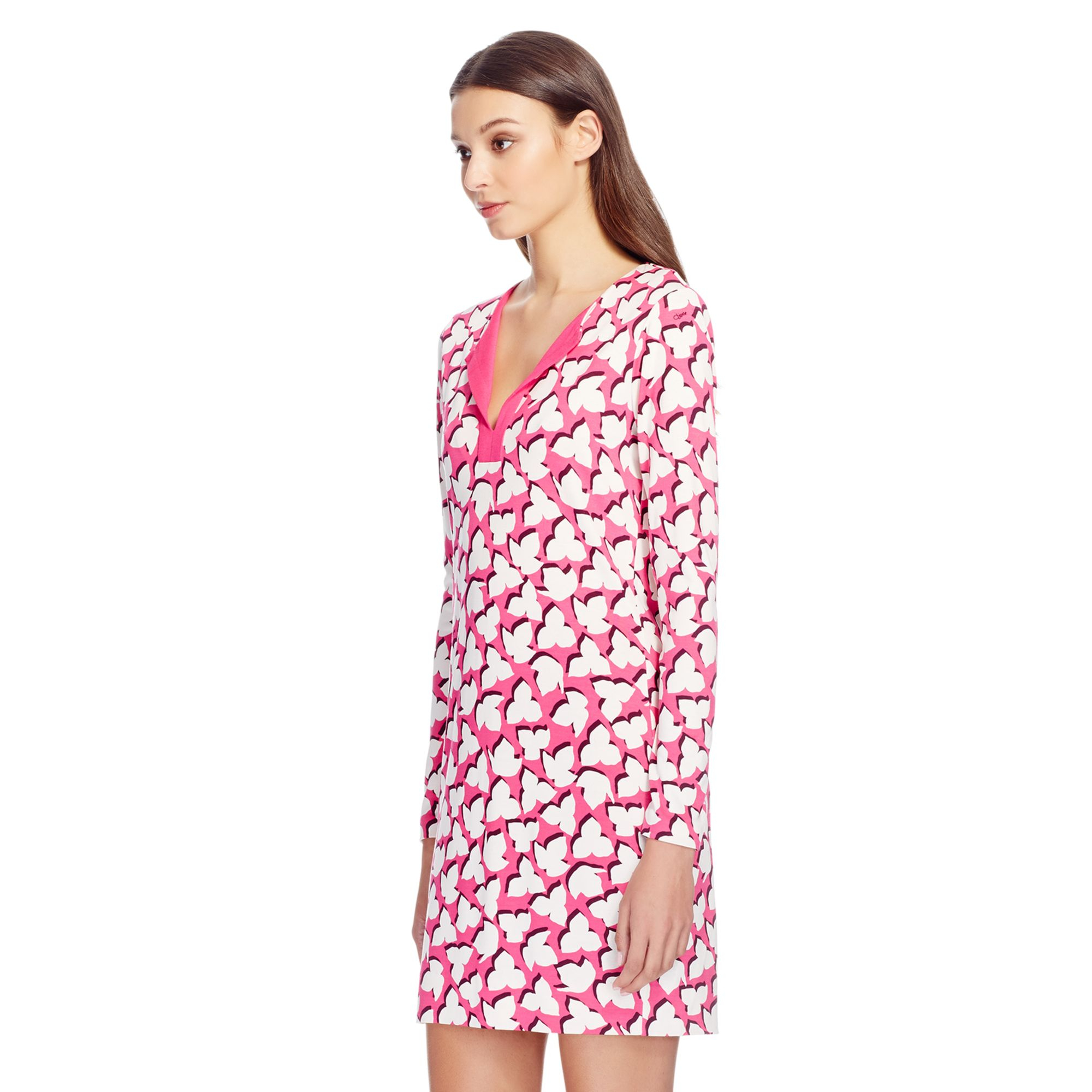 Lyst diane von furstenberg reina silk jersey tunic dress for Diane von furstenberg clothes