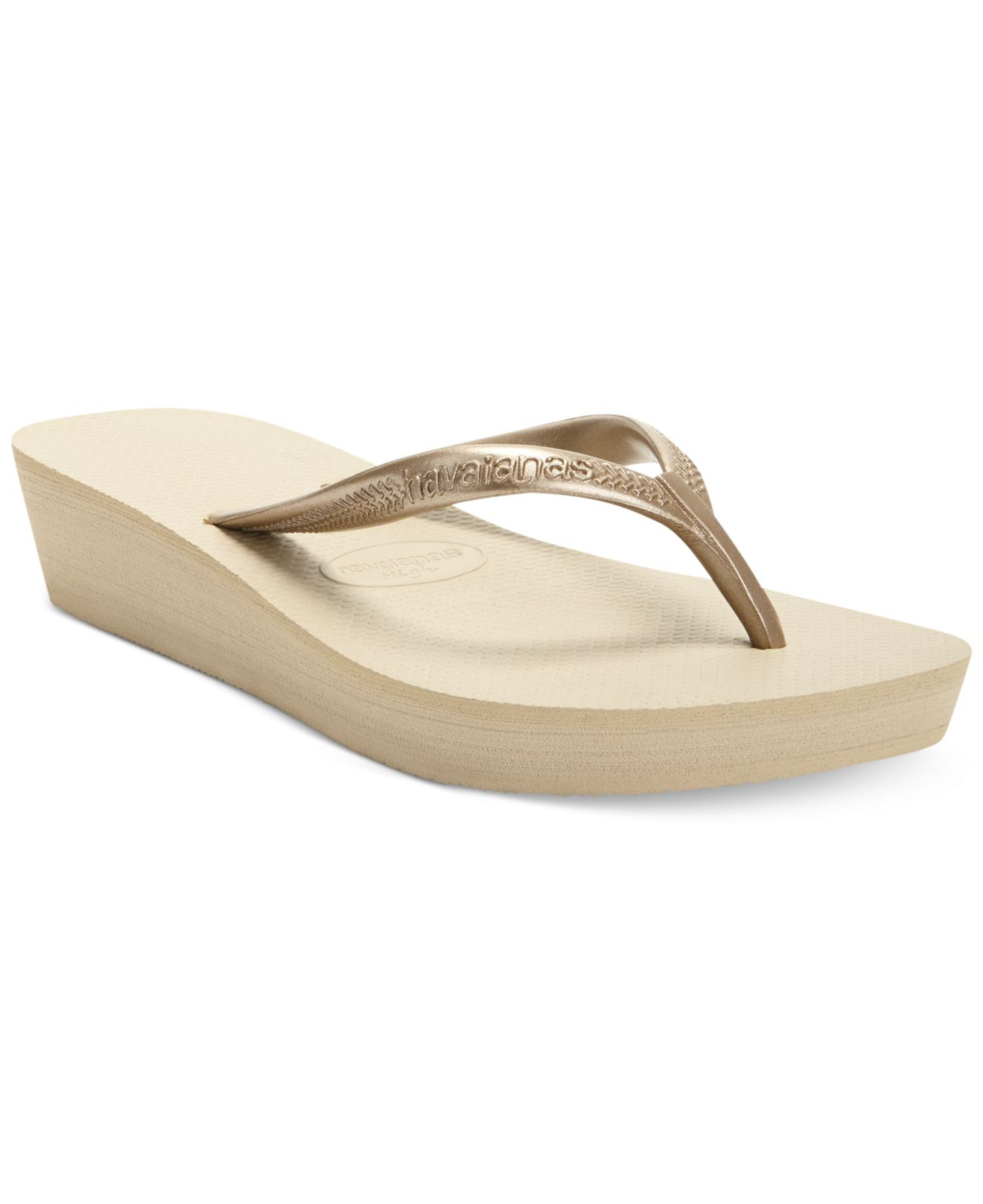 01184f00f Lyst - Havaianas High Light Platform Thong Sandals in Gray