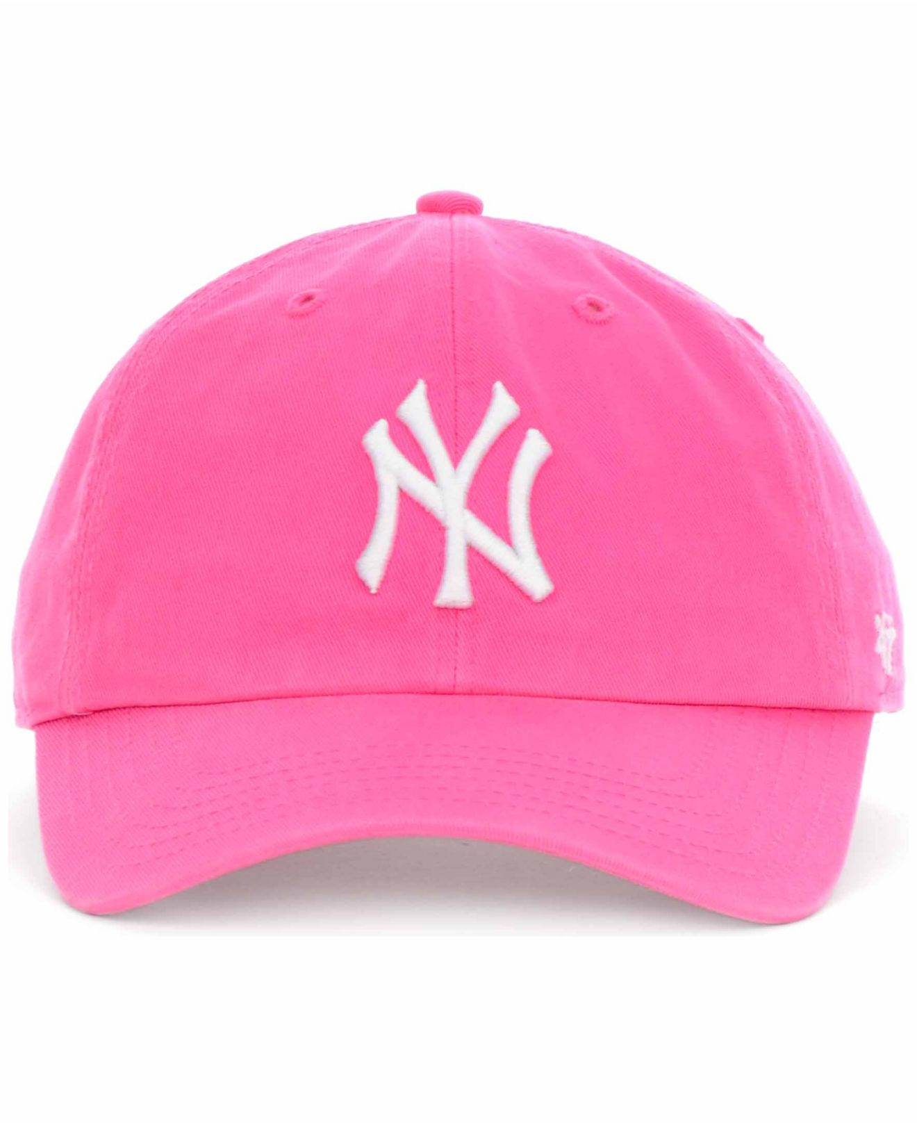 47 Brand New York Yankees Clean Up Hat In Pink