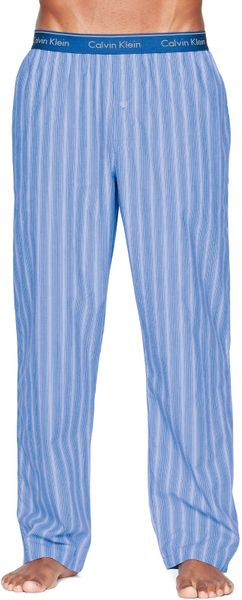 Calvin Klein Stripe Pj Bottoms In Blue For Men Blue