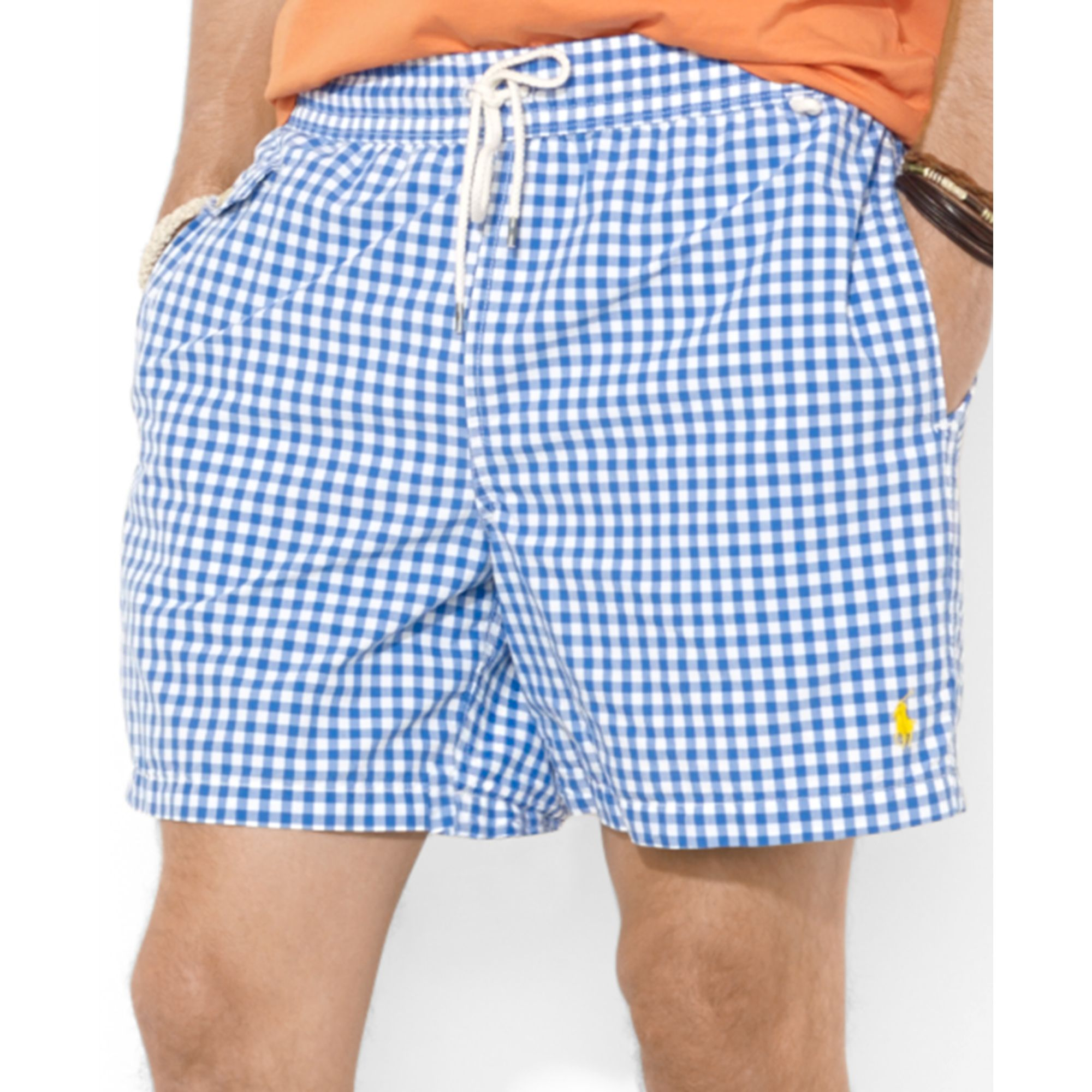 591df9d0ca spain men swimwear polo ralph lauren anchor print swimshorts snujuo f8c2f  271e9; new zealand lyst polo ralph lauren traveler checked swim shorts in  blue for ...