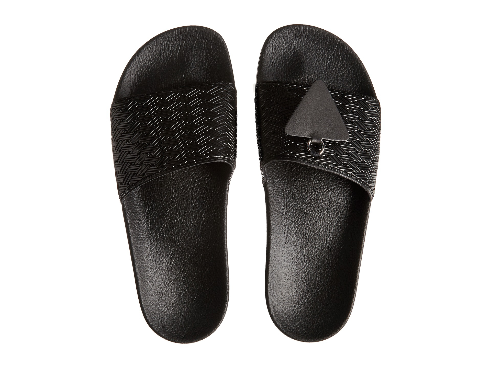 Adidas By Raf Simons Adilette Rubber Slide Sandals In