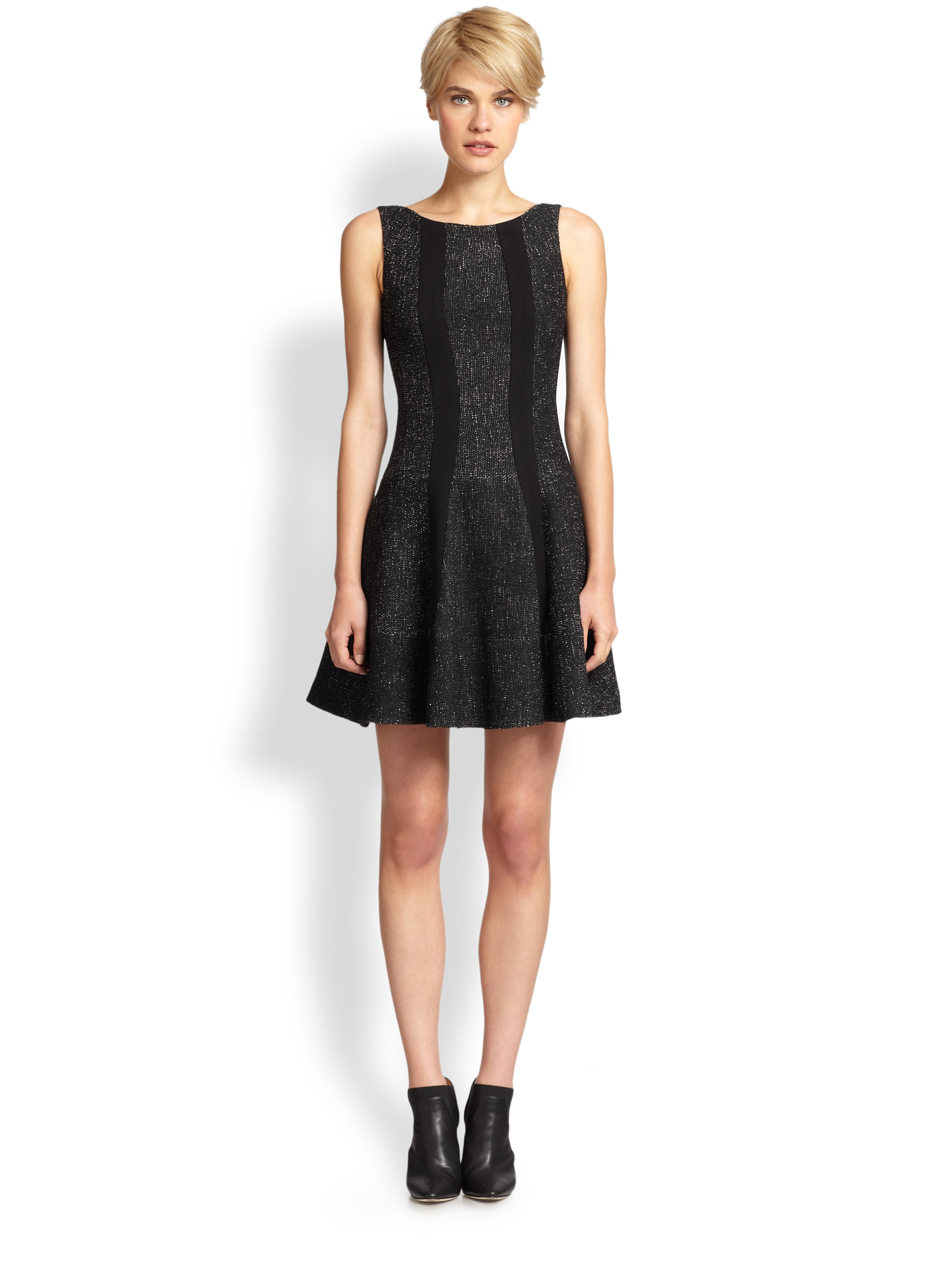 Nanette Lepore Clandestine Dress In Black Lyst