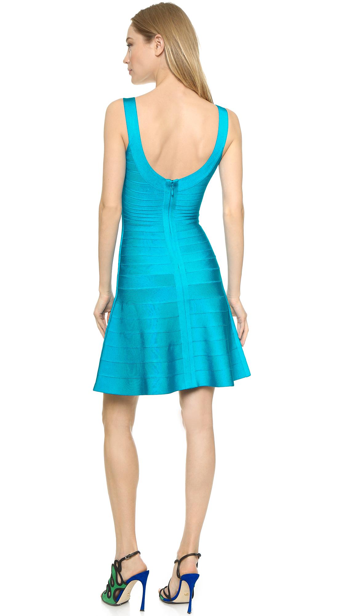 1711e2a281f5 Turmec » herve leger eva metallic coated-bandage mini dress