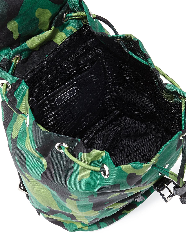 Prada Tessuto Camo Nylon Backpack in Green for Men (camo) | Lyst