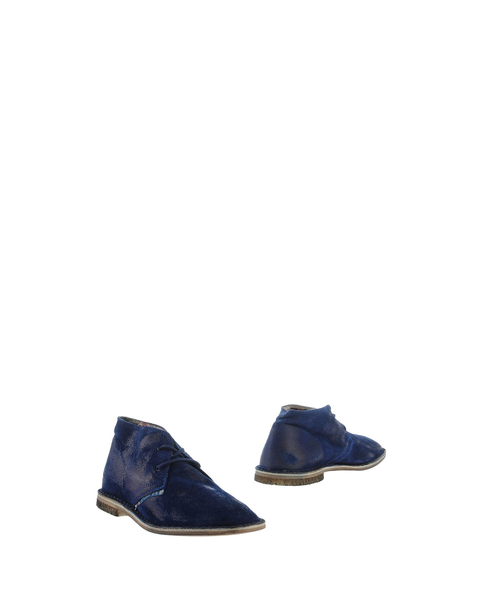 lecrown ankle boots in blue for lyst