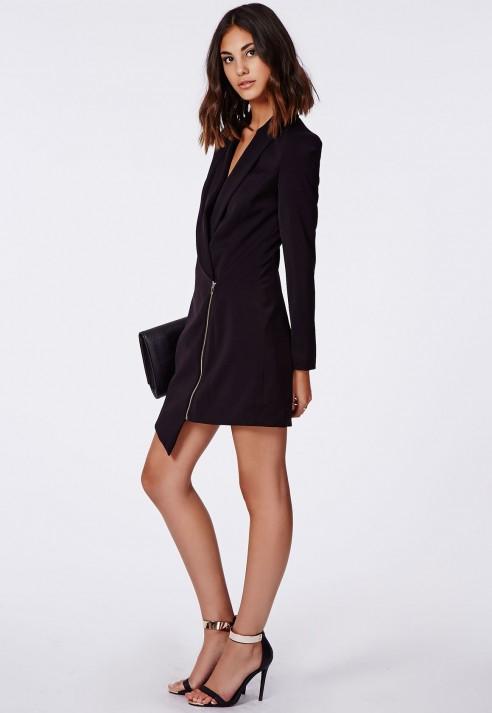 Sancha tux dress black