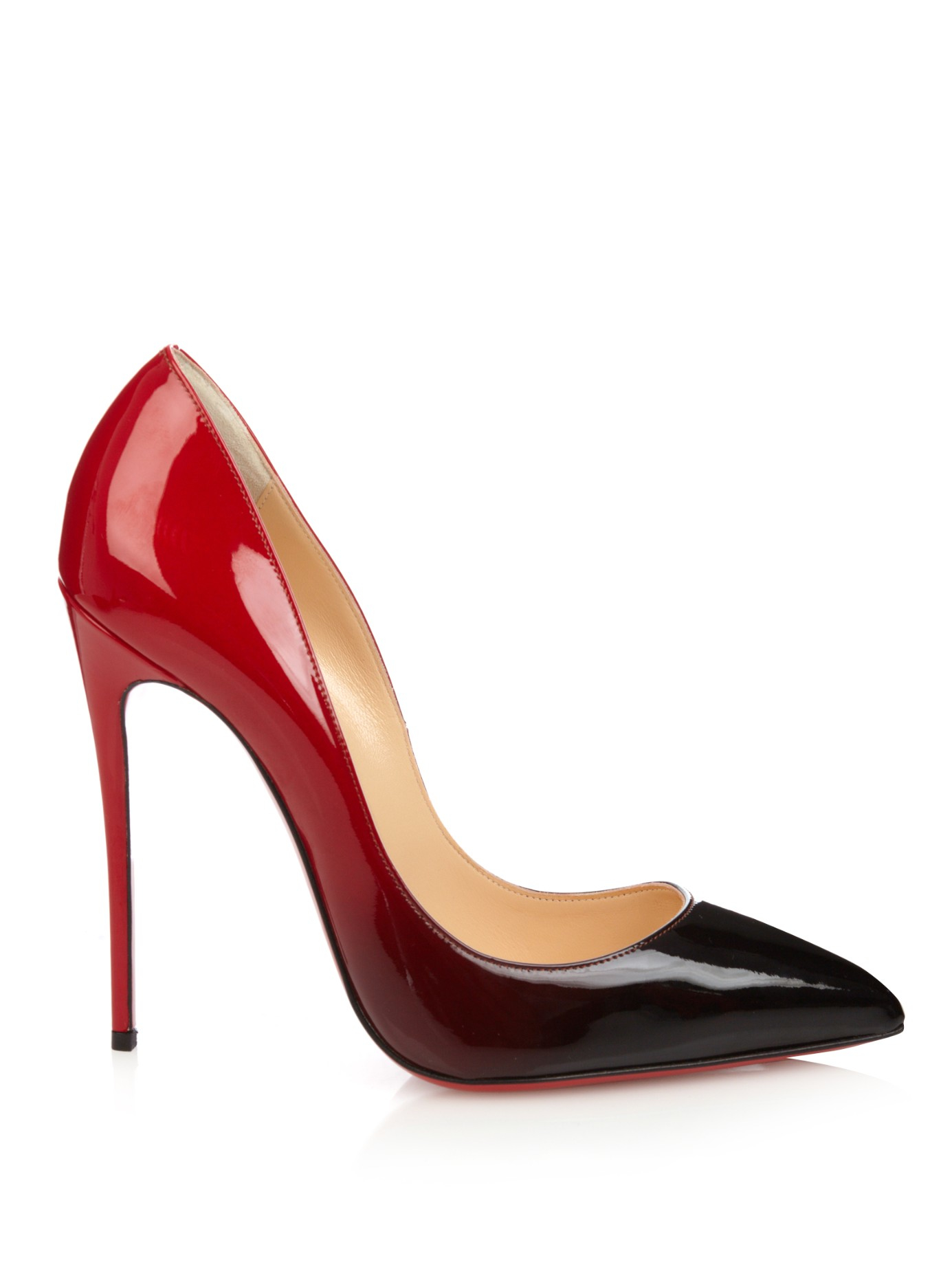 Christian louboutin Pigalle Follies Ombré Pumps in Black ...