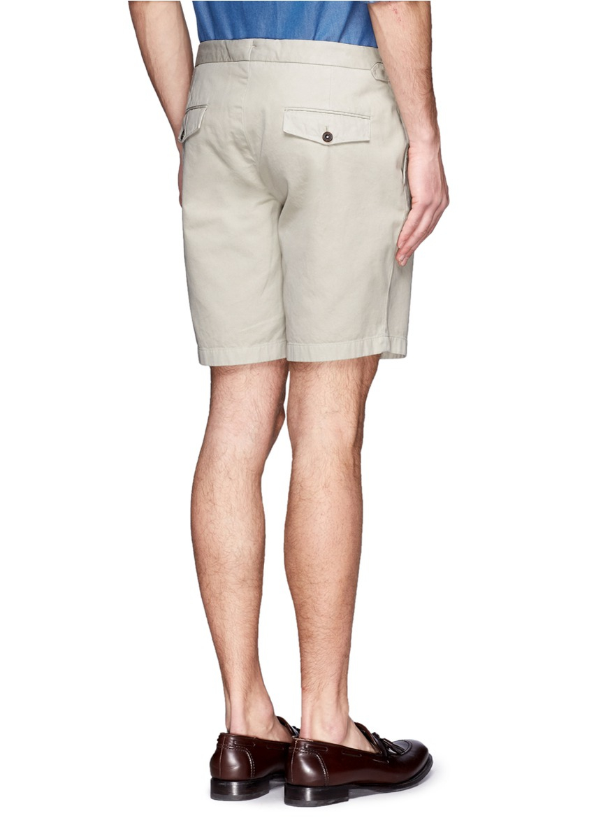Hardy amies Khaki Shorts in Natural for Men | Lyst