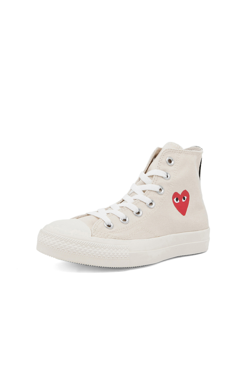 b85ea35ae0a3 Lyst - Play Comme des Garçons Converse High Top Canvas Sneakers in White