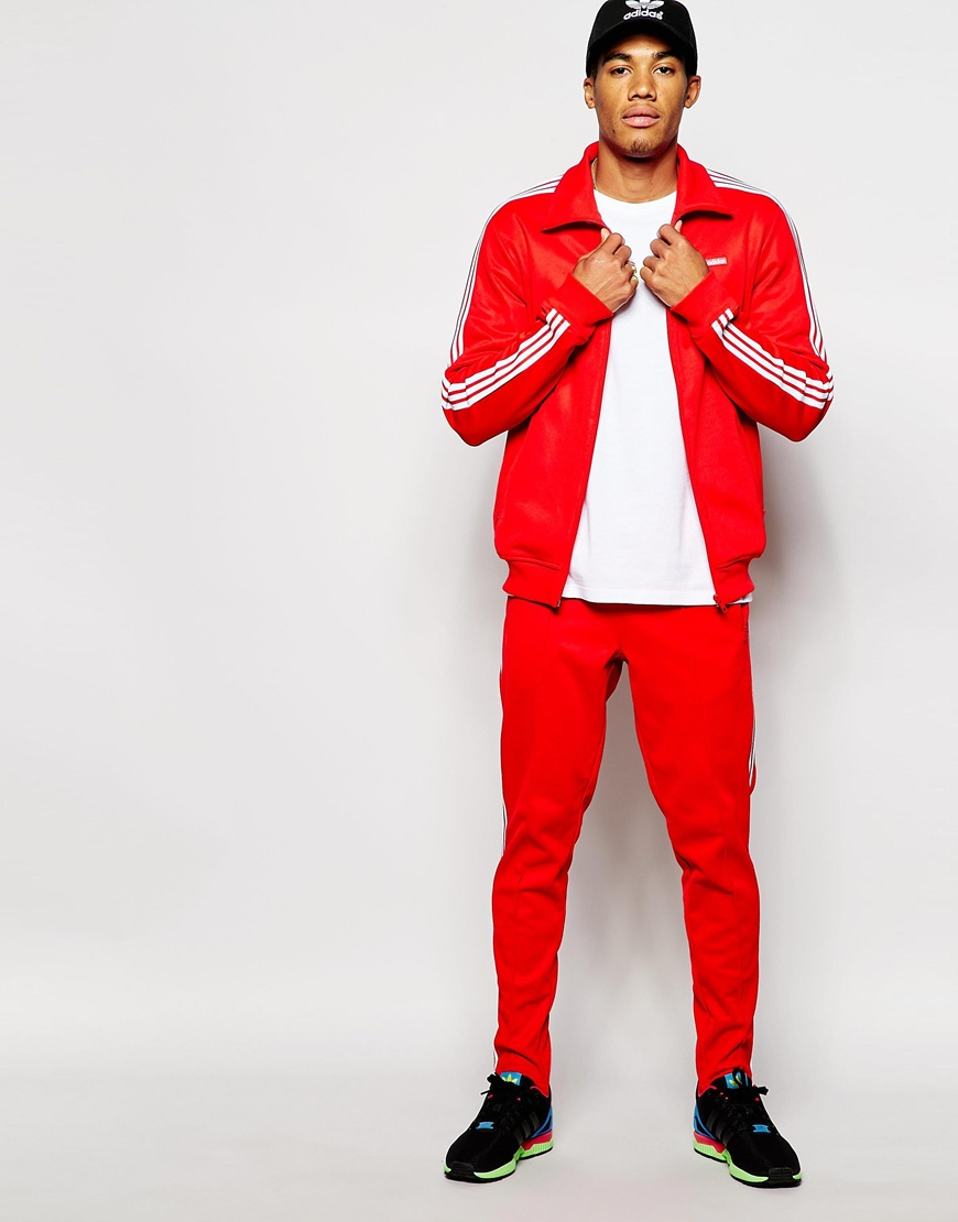 Lyst - adidas Originals Beckenbauer Track Jacket Ab7767 in Red for Men 6e6ee1633ac4