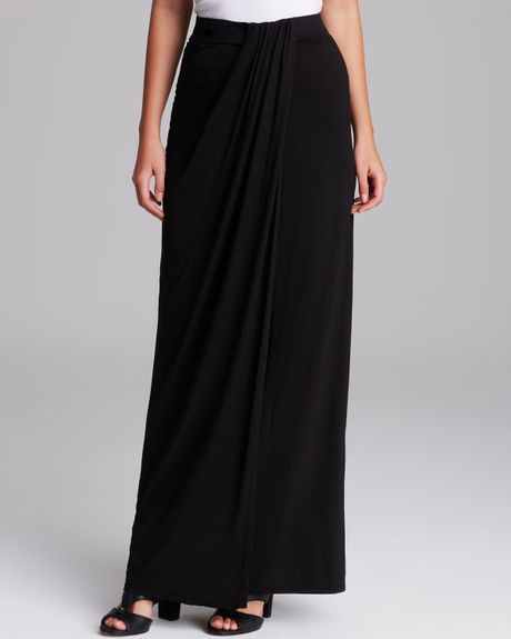 three dots draped maxi skirt in black lyst