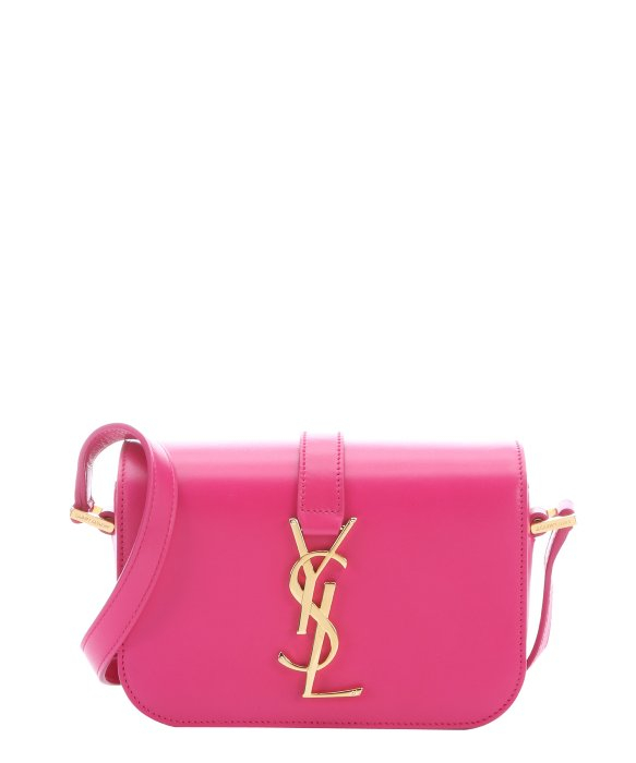 Saint laurent Lipstick Fuschia Leather 'Ysl' Logo Mini Crossbody ...