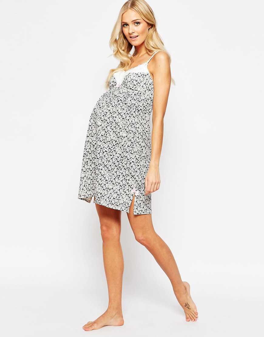 Hotmilk maternity charm nursing nightdress lyst gallery ombrellifo Image collections