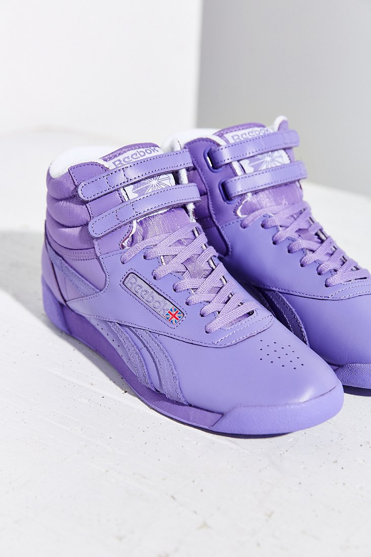 Lyst - Reebok Freestyle Hi Spirit Sneaker in Purple
