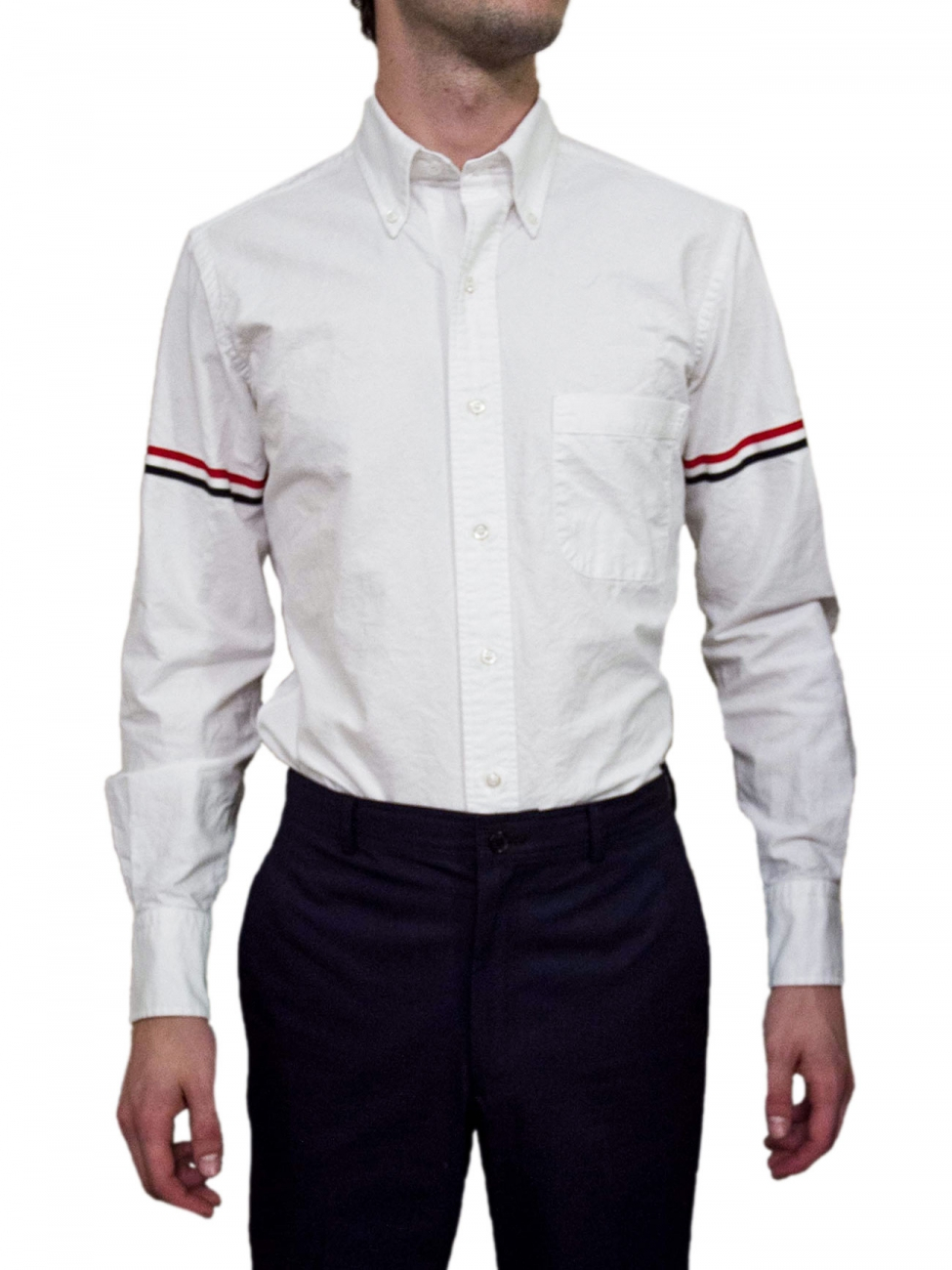 Thom browne optic white shirt in white for men lyst for Thom browne white shirt