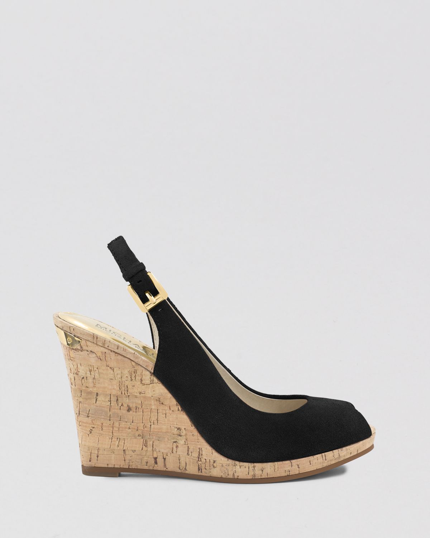 Michael Michael Kors Peep Toe Platform Wedge Sandals
