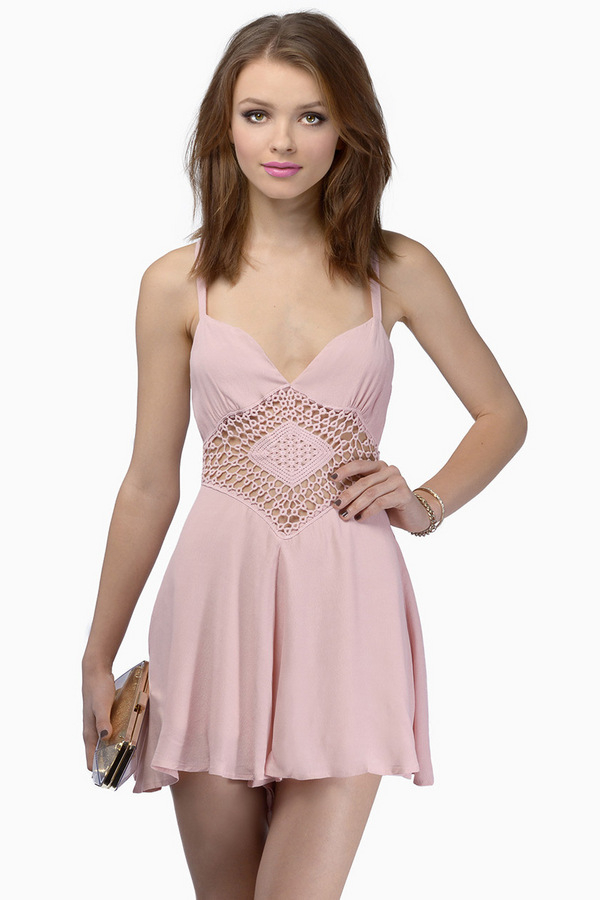 Tobi Endless Summer Crochet Romper in Pink (Blush) Lyst