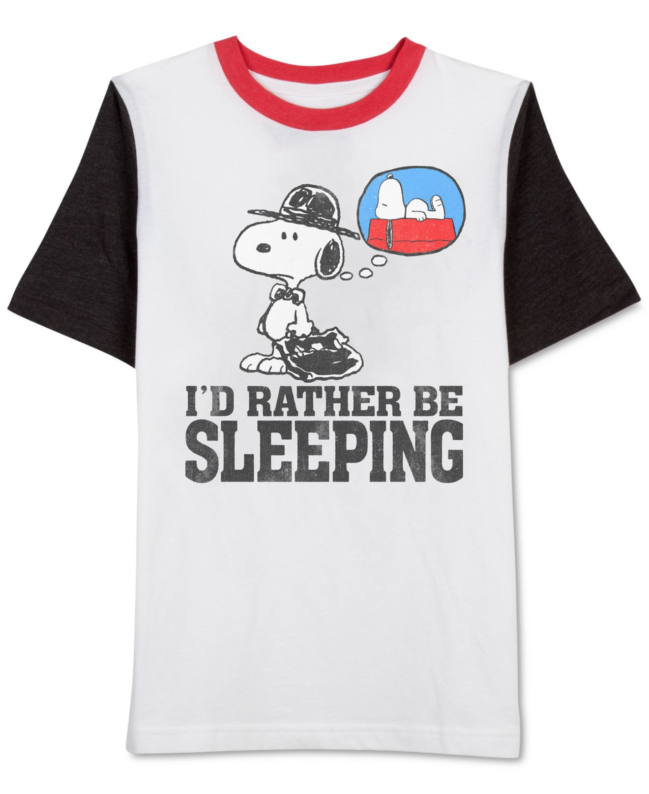 ca59f989f Jem Men's Peanuts Sleeping Snoopy T-shirt in Black for Men - Lyst