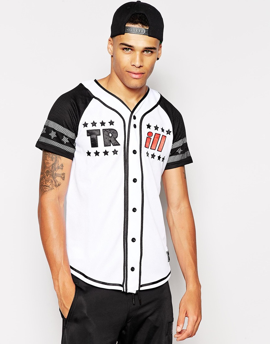 Lyst - Beck u0026 Hersey Baseball Jersey in White for Men