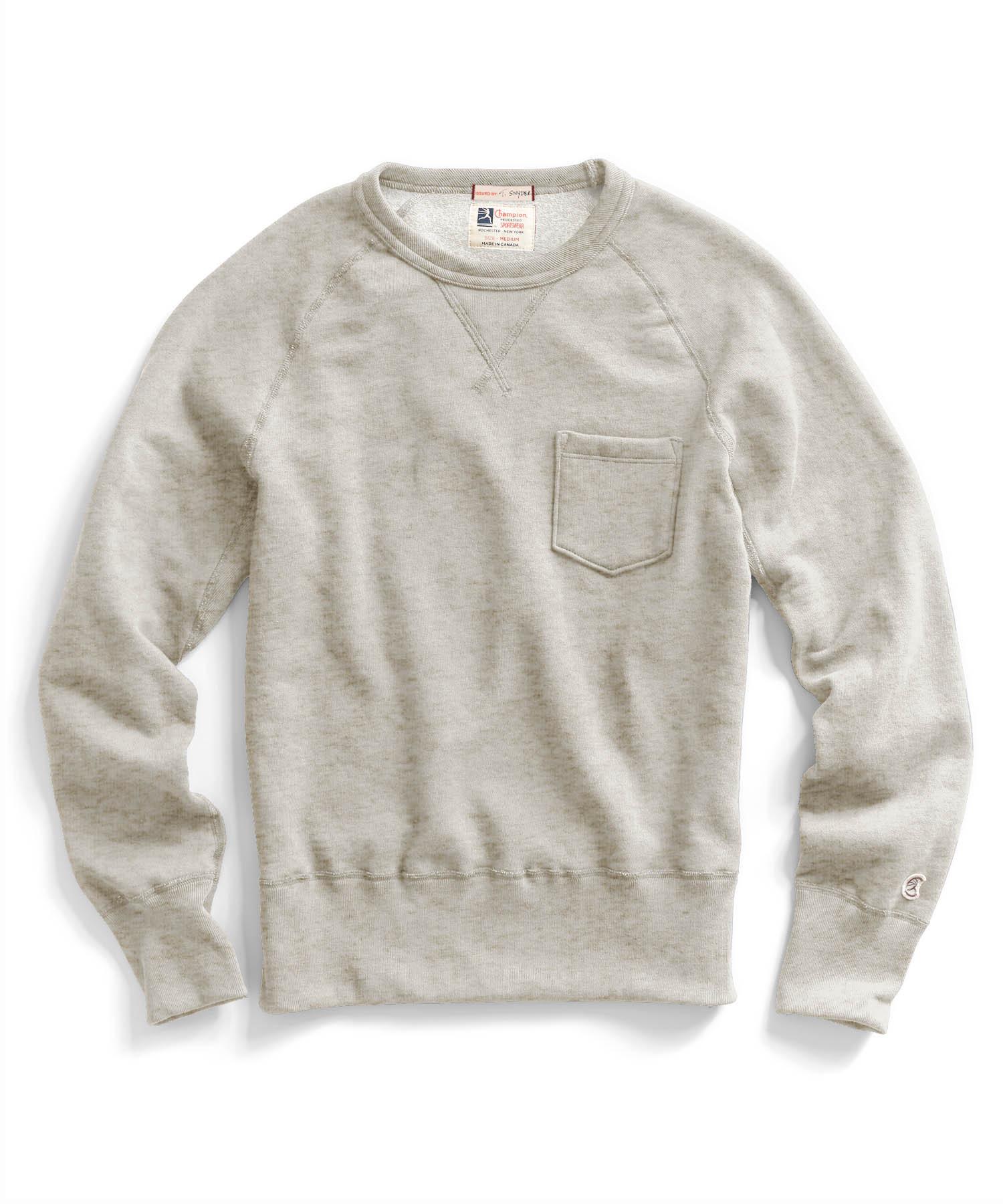 todd snyder pocket sweatshirt in oatmeal in natural for. Black Bedroom Furniture Sets. Home Design Ideas