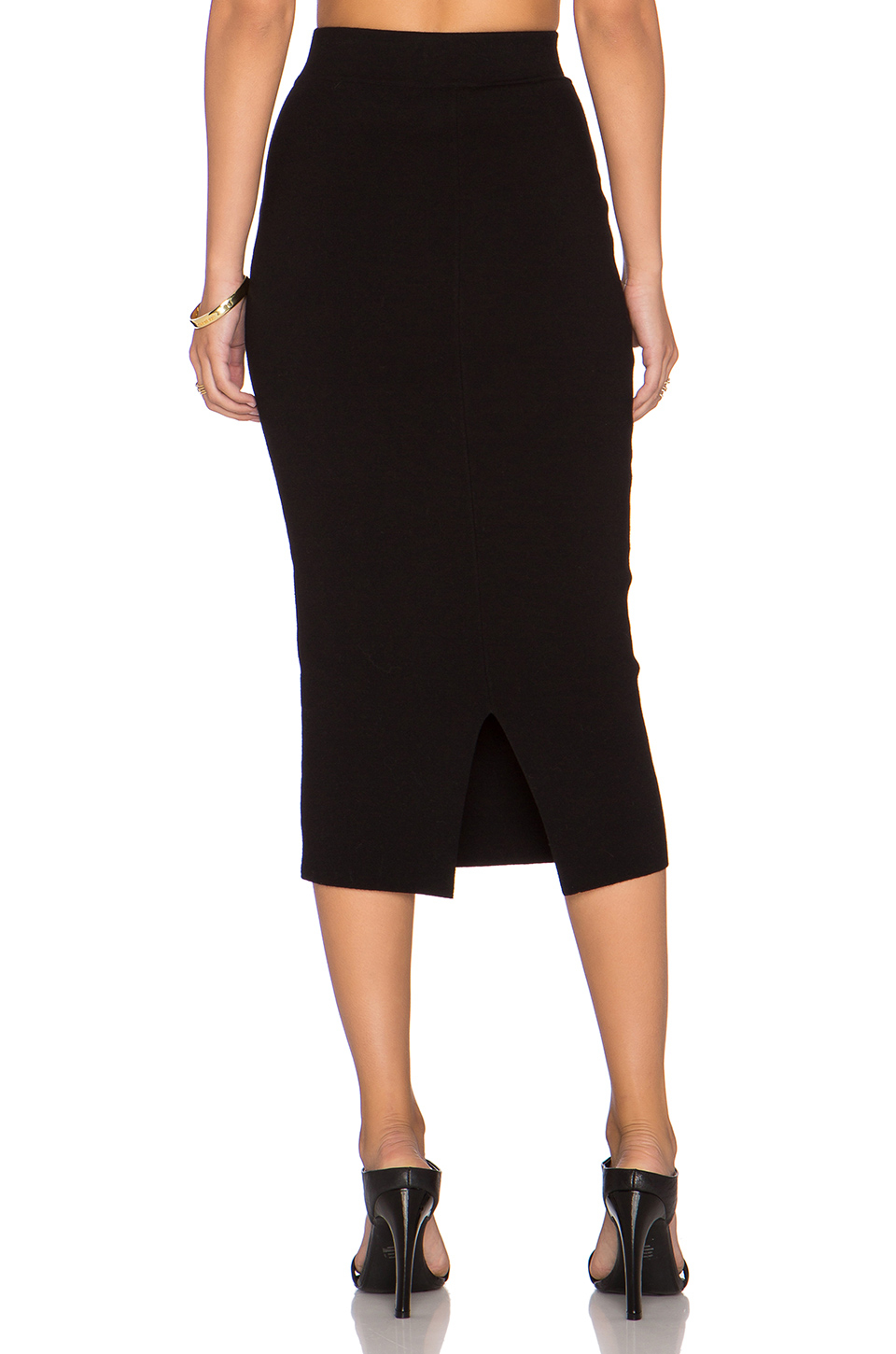 milly fitted pencil skirt in black lyst